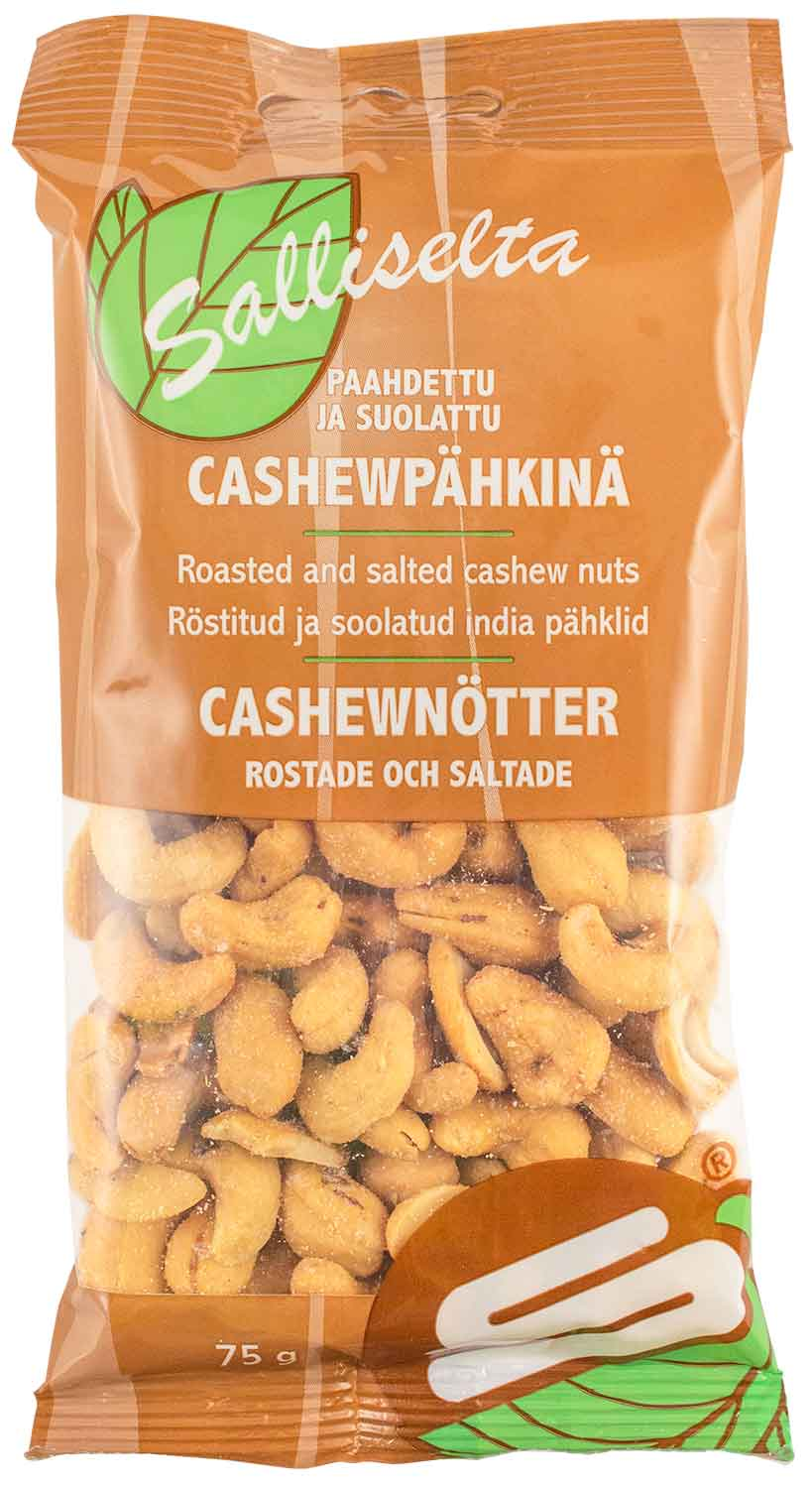 Cashew nuts roasted and salted 75g