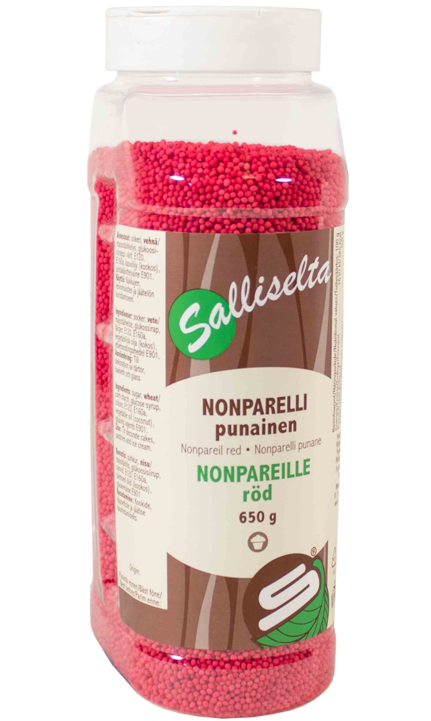 Nonpareils red 650 g
